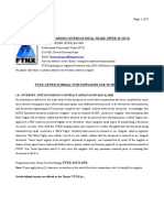 FTNX Standing Integrated Trade Offer