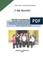 PROYECTO DE CAPACITACION DOCENTE EN COMPETENCIA DIGITAL