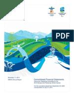 2010 VANOC Financial Report