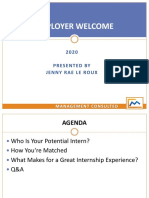 Intern Employer Welcome - 2020 - SLIDES
