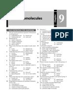 Biomolecule questions