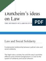 Durkheim's ideas on Law.pptx