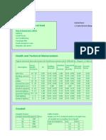 Electrical calculation sheet - Ecs