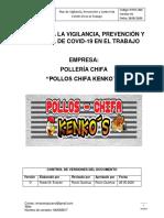 PLAN PARA LA VIGILANCIA, PREVENCIÓN Y CONTROL DE COVID-19 EN EL TRABAJO