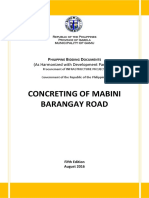 PBDs- concreting of mabini barangay road 1.4m first posting