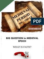 Mark Report MEDIEVAL PERIOD PHILOSOPHY