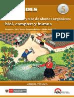 FONCODES Producción y Uso de Abonos Orgánicos Biol, Compost y Humus