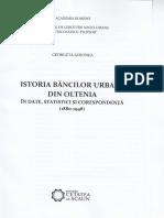 Istoria bancilor urbane din Oltenia in date, statistici