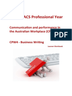 CPW4 Business Writing WRT401 Learner Workbook V1.4