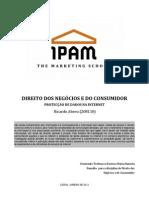 Direito dos Negócios e do Consumidor - Protecção de Dados na Internet (3º Ano)