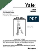 Yale PSB Lever Hoist - PSB-680