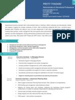 0_Resume - Preity Thadani (1) pdf