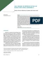 Avaliação do RDW como indicador da deficiência de ferro