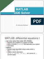 MATLAB ODE Solver