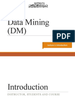 Lecture 1-Data Mining (introduction)