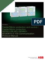 REF 601/REJ 601/REM 601 IEC60870-5-103 Communication