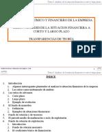 2008-2009. AEFE. Tema 5. El analisis de la situacion financiera a corto y largo plazo