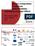 Recyclage des composites a matrices thermodurcissables solvolyse et projet ABval