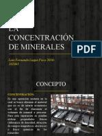 CONCENTRACION DEL MINERAL.pptx