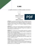 Ley 9940 - Policia de la Provincia