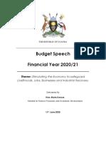FULL Uganda Budget-speech 2020-2021