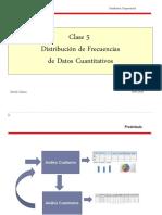Clase 5  Distribución de frecuencias datos cuantitativos