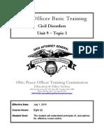 Ohio Peace Officer Basic Training - Civil Disorders