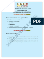 Cronograma de actividades UNES CALCULO