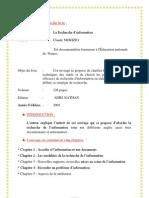 Note de Lecture Recherche de l'Information