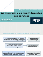As estruturas e os comportamentos demográficos