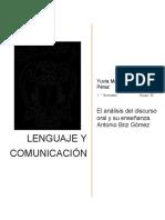 2.El Análisis Del Discurso Oral y Su Enseñanza.