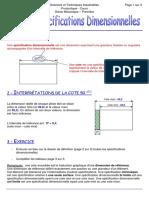 Les specifications dimensionnelles (1)