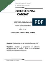 Proyecto Final 2010 - Cansat - A Nataniel Kripicer