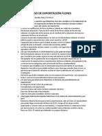 CASO DE EXPORTACIÓN FLORES