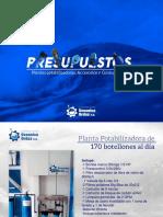 ¡¡Nuevo presupuesto de Plantas Potabilizadoras de Agua!!