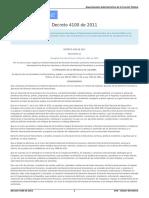 Decreto 4100 de 2011 Sistema nacional de DDHH y DIH
