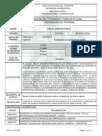 12.-Informe Programa de Formación Titulada (TÉCNICOS)DIBUJO ARQUITECT{ONICO