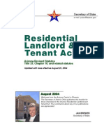 Arizona Residential Landlord and Tenant Act