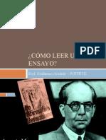 Cómo leer un ensayo - FGTHU02 Comprension de Venezuela