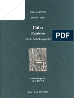 ALBÉNIZ, Isaac • Cuba (edited by Gérard Reyne) (guitar music score)