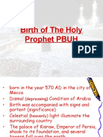 Birth of the holy Prophhet .ppt