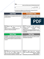 Template - Time in Manufacturing