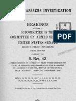 Malmedy Hearings US Senate - Volume I 1949