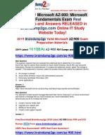 [November-2019-New]Braindump2go AZ-900 VCE and PDF Dumps Free Share