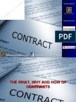 The What, Why & How of Contracts