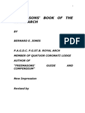 BOOK OF ROYAL ARCH Bernad E Jones | Freemasonry | Masonic Lodge