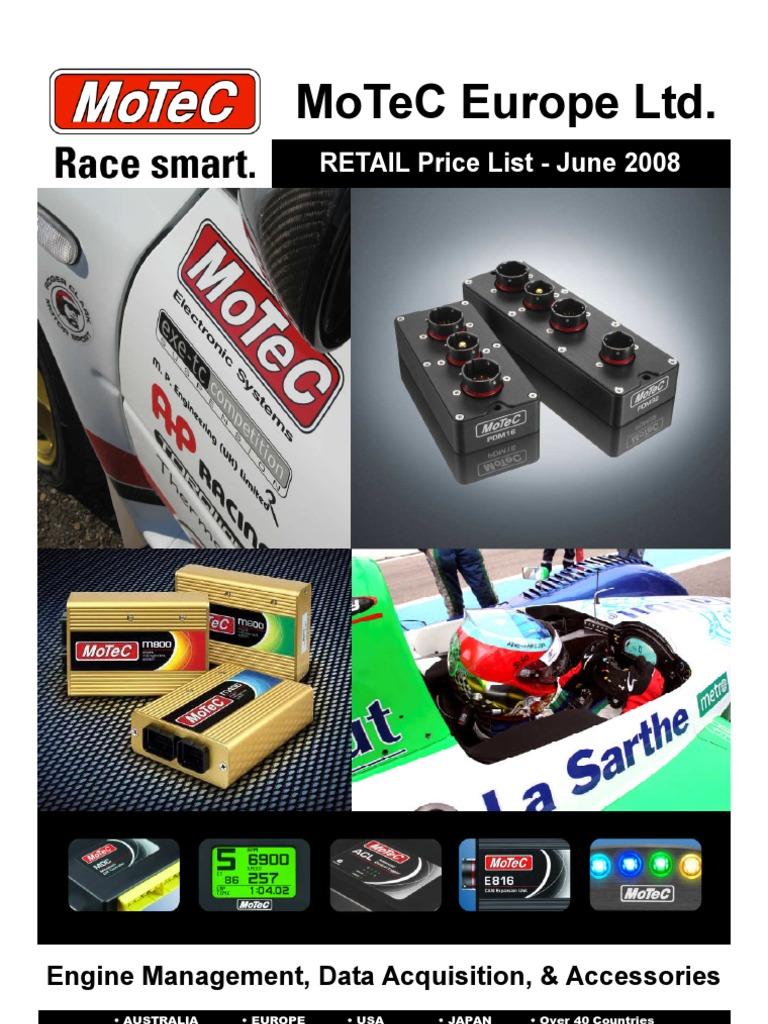 MoTeC_Pricelist_ | Fuel Injection | Backlight