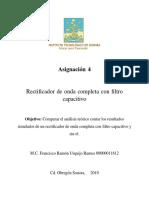 Filtro capacitivo  PSIM