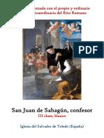 12 de junio. San Juan de Sahagun, confesor. Propio y Ordinario de la santa misa