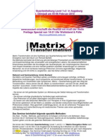 Einladung Matrix Transformation 1+2 Seminarbeschreibung 5-6 Februar Augsburg